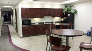 Kitchen/break area with convection oven/microwave, dishwasher, deep well sink and more...