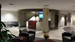 Comfortable modern lobby with open floor plan for you and your passengers.