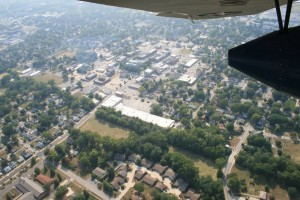 Downtown Auburn from the Tri-motor
